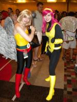 Hawkgirl and Pixie by EmilyScissorhands