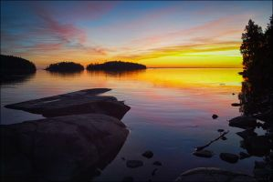 Sunset.. Valaam Islands... _2_ by my-shots