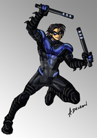 Nightwing - Blue Variant by ADL-art
