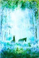 Horses in the wood by ArkadiyK