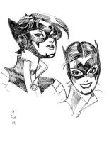 Catwoman sketches by Jebriodo