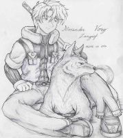 Lonely Wolf VORG by 13671Onin