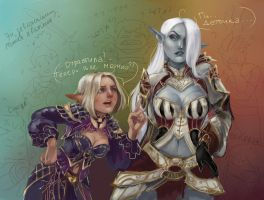 Girls in Lineage 2 by DrearyBurn