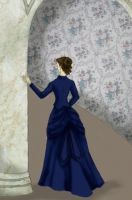 1870s Lady Blue by eponinelle