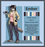Commission - Ember Reference Sheet by Electrical-Socket
