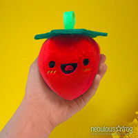 Handmade Organic Strawberry Art Plush by NebulousFrog