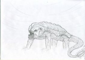 Surreal Creature Lineart by Jeffers800
