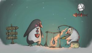 penguins by MrCobblePlot