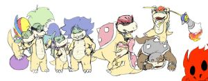 Koopaling LineUp by ClockworkShrew