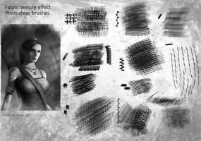 Fabric texture effect Photoshop brushes by brushbitch