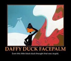 Daffy Duck Facepalm by MrAngryDog