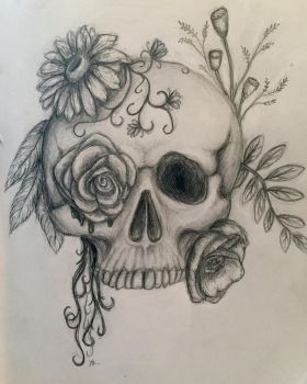 Flower Skull by azul013
