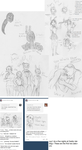 Five Nights at Freddy's Sketch Dump by TokalaSoul