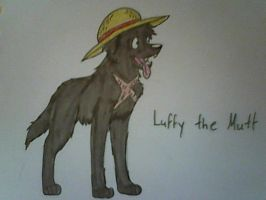 One Piece- Luffy the Mutt by XfangheartX