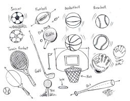 Draw Sports Balls by Diana-Huang