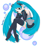 Pixel Miku by Over-Krl