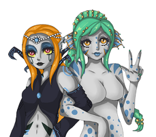 Nixie and Lunai by GothKat11234