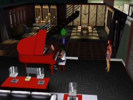 SIMS 3: Play Piano by Aubergine-Jeri