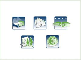 Eden School web site icons by outlines