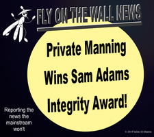 Private Manning Wins Sam Adams Integrity Award! by IAmTheUnison