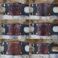 Anime Custom Bracer Bracelets by Epic-Leather
