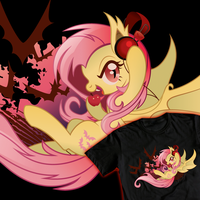 Flutterbat Rock Shirt by SpaceKitty