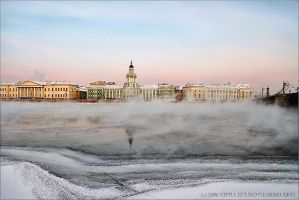Morning. Petersburg. February by KARAKULEV