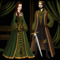 Lady and Lord Macbeth by SingerofIceandFire