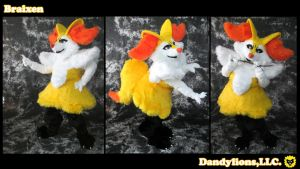 Braixen Full Suit by DandylionsLLC