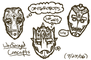 Warforged Heads - ricerurouni by EberronFanArt