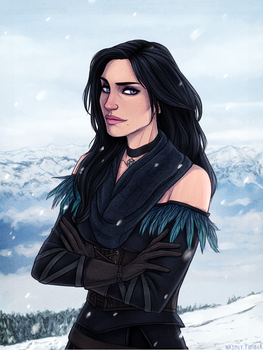 Yennefer - The Witcher 3: Wild Hunt by Naimly