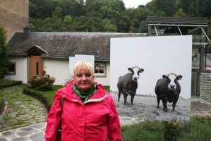 Ingeline and the cows by ingeline-art