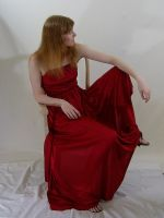 Long Red Dress 1 by chamberstock