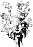 Justice League (lines) by J-Rayner