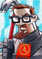 Gordon Freeman Sketchcard by Chad73