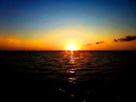 Another day ends in the black sea by PepperLady