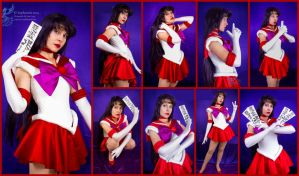 Sailor Mars Collage by AmmieChan