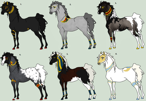 Egyptian Equus Mix Adoptables - CLOSED by The-Halfway-House