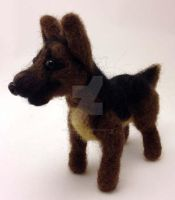 Needle Felted German Shepherd Dog by The-GoblinQueen