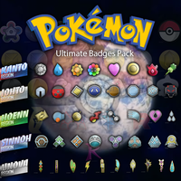 Ultimate Pokemon Badges Pack HD by RamiroMaldini
