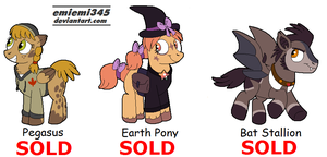 [CLOSED] Fall Themed Pony Adopts by emiemi345