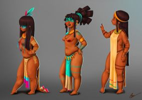 Natives Girls by RocioGarciaART
