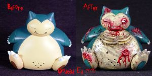 Pokemon Zombie Snorlax ooak by Undead-Art