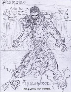 General Zod (Villain of Steel) Pencil by AplG7