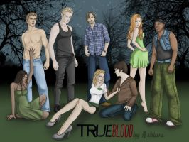 True Blood characters by AshiMonster
