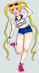 Summer time sailor by Crescent-S-Moon