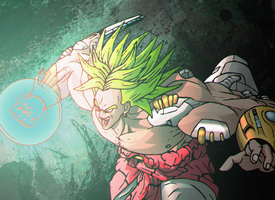 NewGen Broly (Fan Art) by FlyingSkyCrown