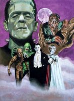 Universal Monsters by Bill-Pulkovski