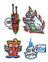 4 Stickers by MarshallPlex