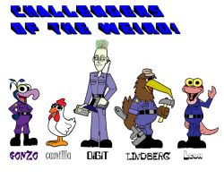 Challengers of the Weird cast by Gonzocartooncompany